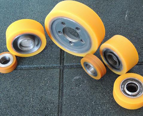 Polyuerethane coated wheels