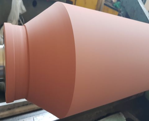 Rubber coated rolls