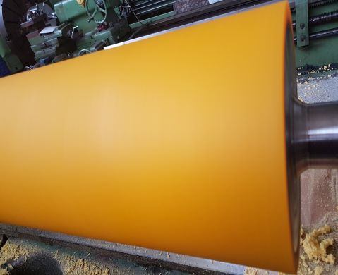 Polyurethane coated rolls